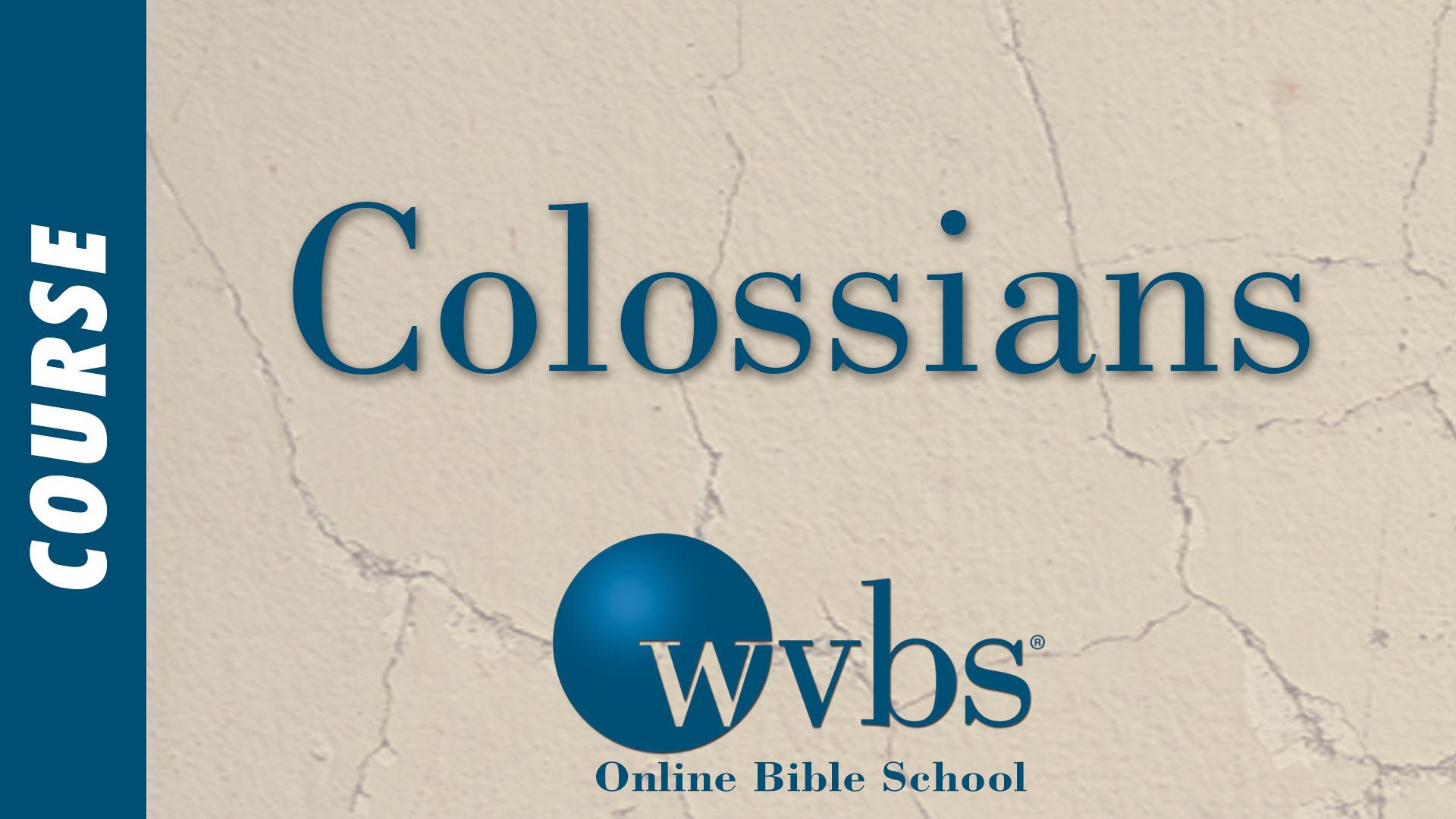 Course - Colossians