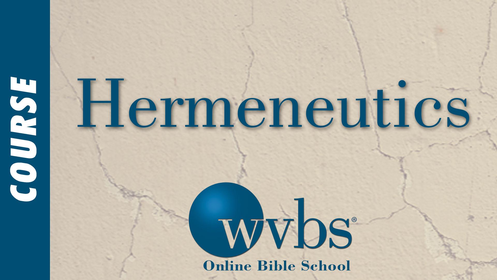 Course - Hermeneutics